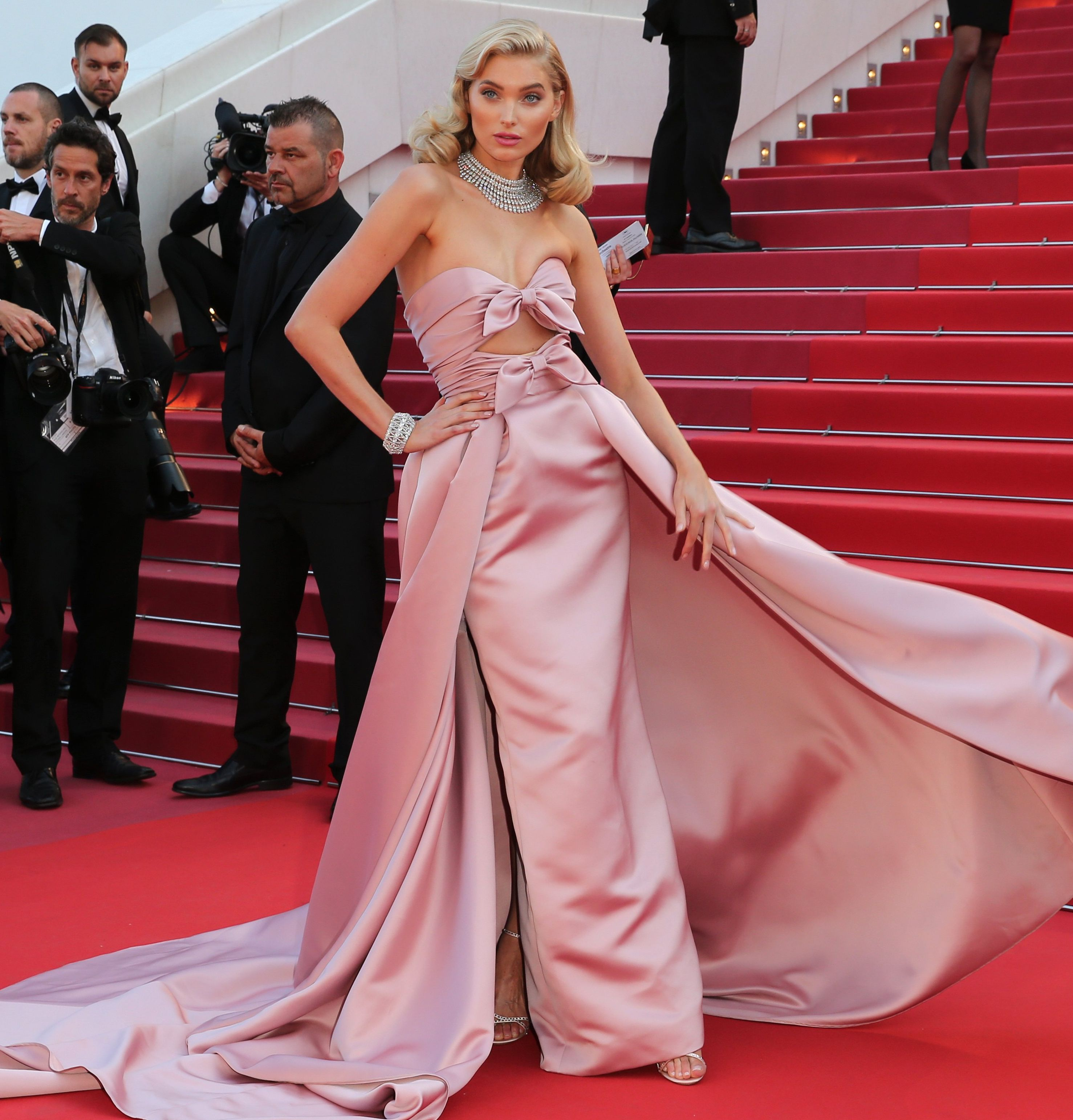 elsa hosk at the cannes film festival in a madonna inspired dress
