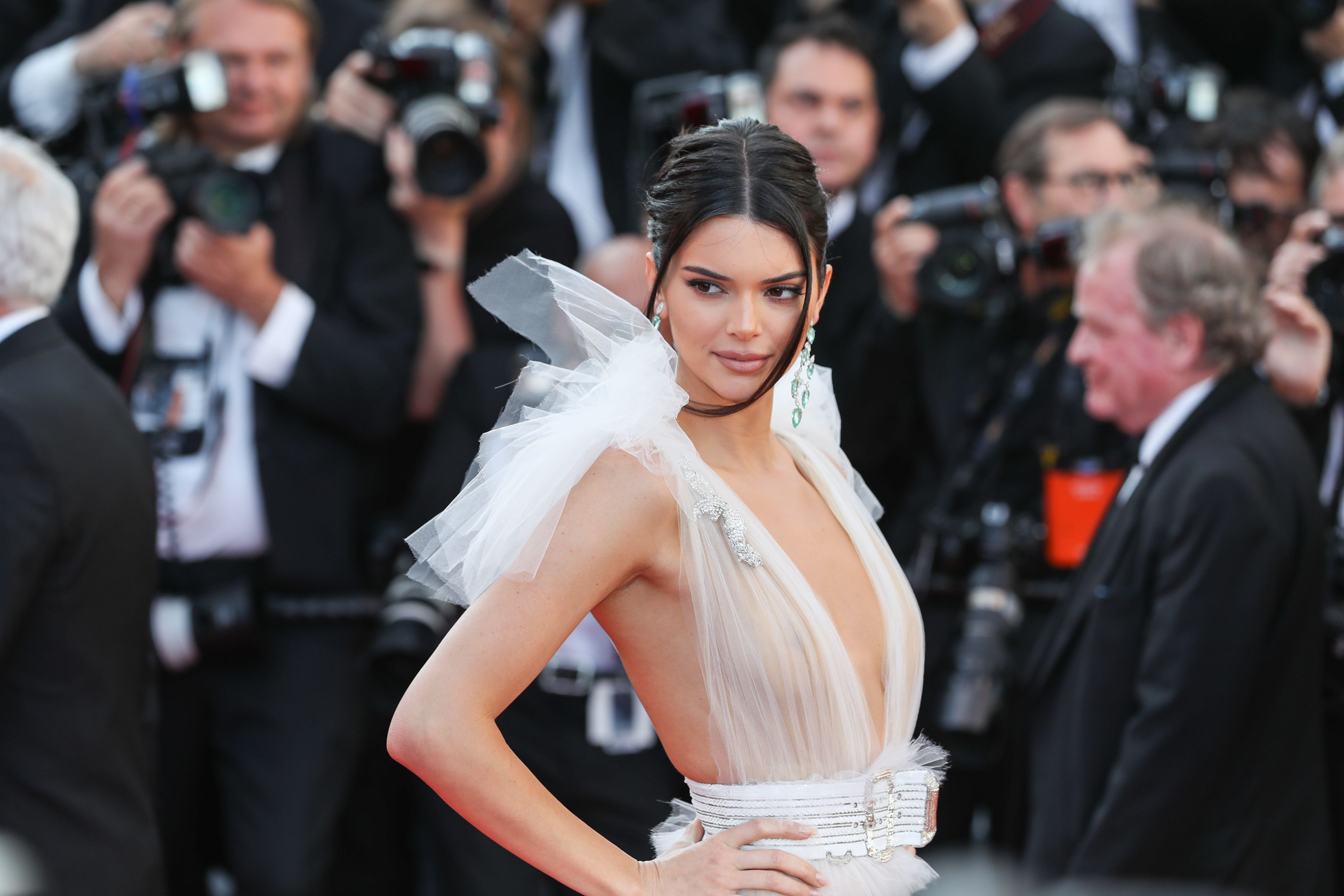 50fa9a0263 Naked Dresses at the Cannes Film Festival 2018 — Sheer Dresses on ...