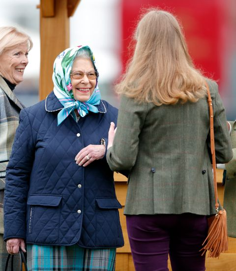 windsor, united kingdom   may 12 embargoed for publication in uk newspapers until 24 hours after create date and time queen elizabeth ii and lady louise windsor attend day 4 of the royal windsor horse show in home park on may 12, 2018 in windsor, england this year marks the 75th anniversary of the windsor horse show which was first held in 1943 photo by max mumbyindigogetty images