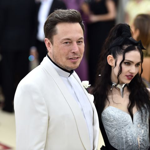 new york, ny   may 07  elon musk and grimes attend the heavenly bodies fashion  the catholic imagination costume institute gala at the metropolitan museum of art on may 7, 2018 in new york city  photo by theo wargogetty images for huffington post