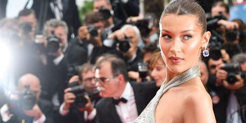 Bella Hadid Silver Dress Cannes Film Festival 2018