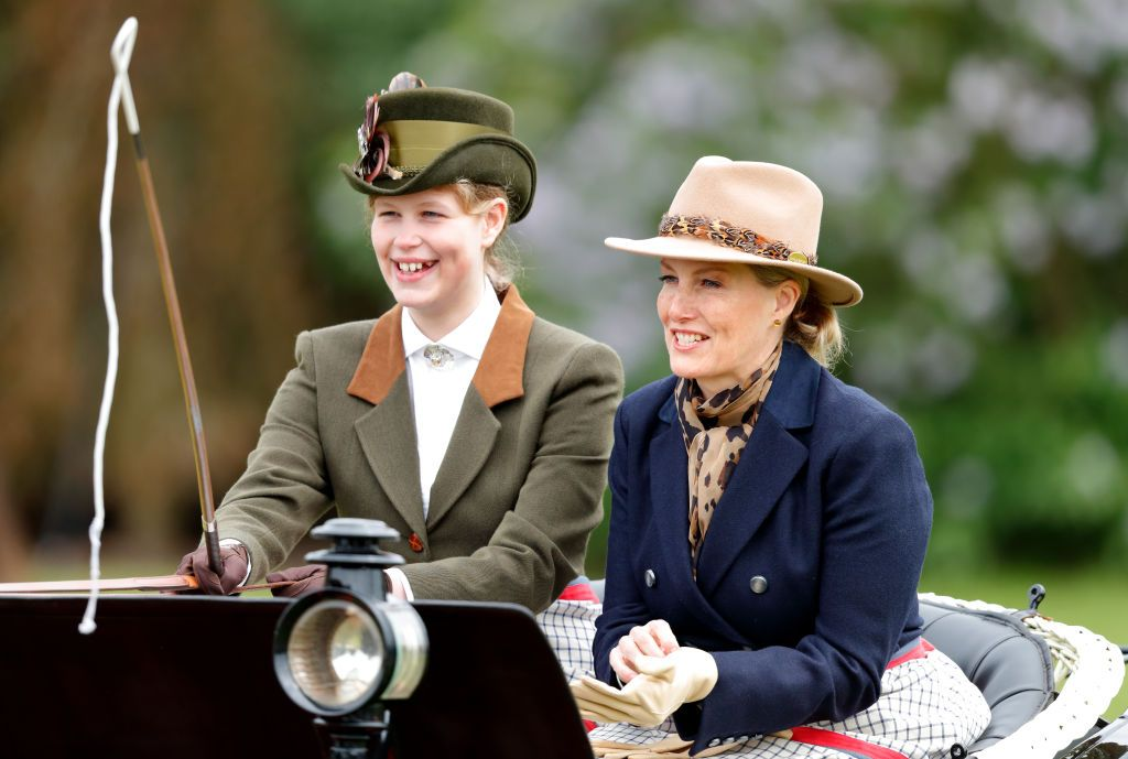 Lady Louise And Her Mother Countess Sophie At The  Windsor Horse Show