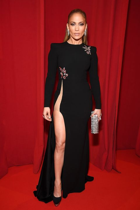 Jennifer Lopezs 2019 Oscars Red Carpet Dress Shows Off