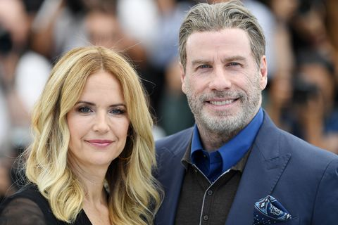 cannes, france   may 15  kelly preston and john travolta attend the photocall for rendezvous with john travolta   gotti during the 71st annual cannes film festival at palais des festivals on may 15, 2018 in cannes, france  photo by pascal le segretaingetty images