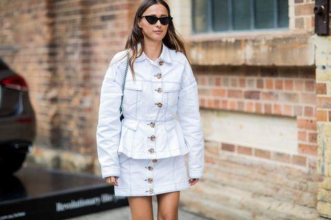 Clothing, White, Street fashion, Fashion, Outerwear, Denim, Jeans, Jacket, Shorts, Coat,