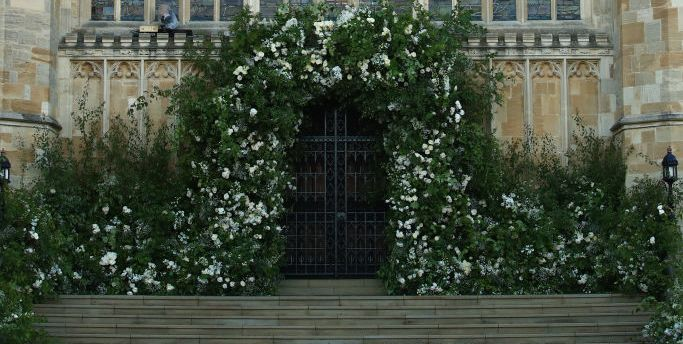 The flowers at St. George's chapel.