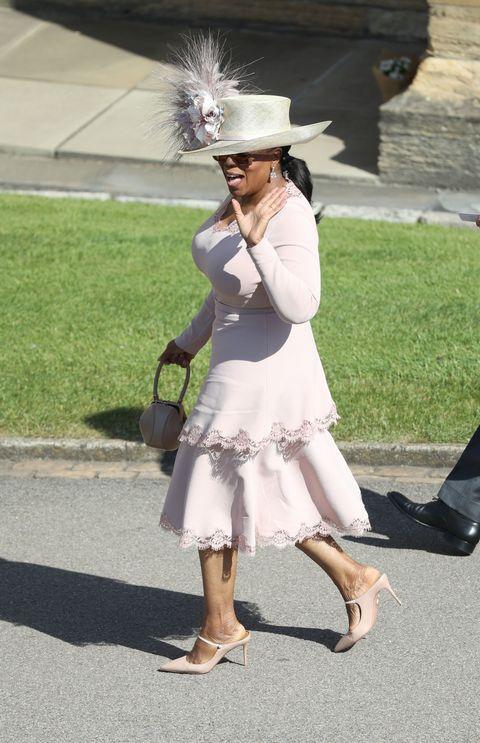 Oprah At Prince Harry Wedding.Oprah Winfrey Wears Pink Stella Mccartney To Royal Wedding Idris