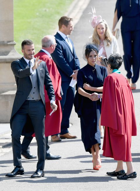David And Victoria Beckham Arrived At Royal Wedding Victoria