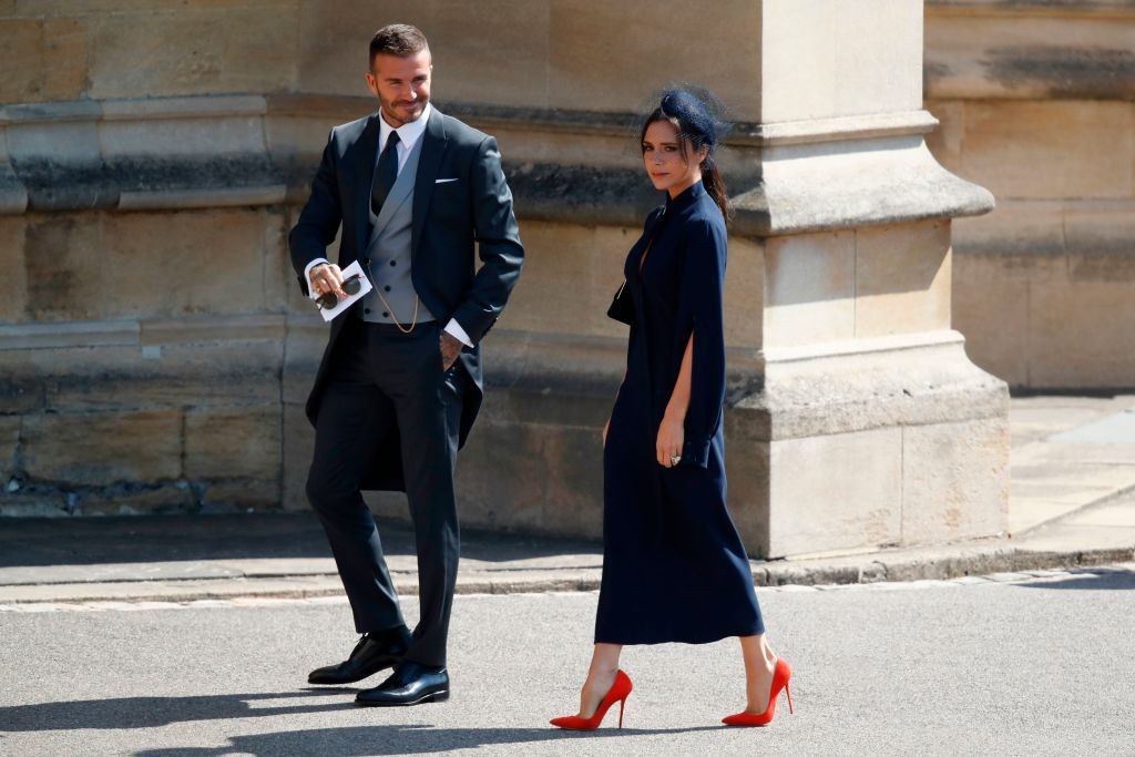 Victoria Beckham Royal Wedding Outfit Victoria Beckham And David