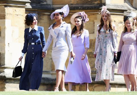 146808edf2b14 Priyanka Chopra Wears Purple to Meghan Markle and Prince Harry ...