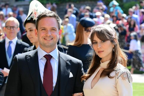 American Wedding Cast.Suits Cast Members Patrick J Adams And Sarah Raffety Arrive At