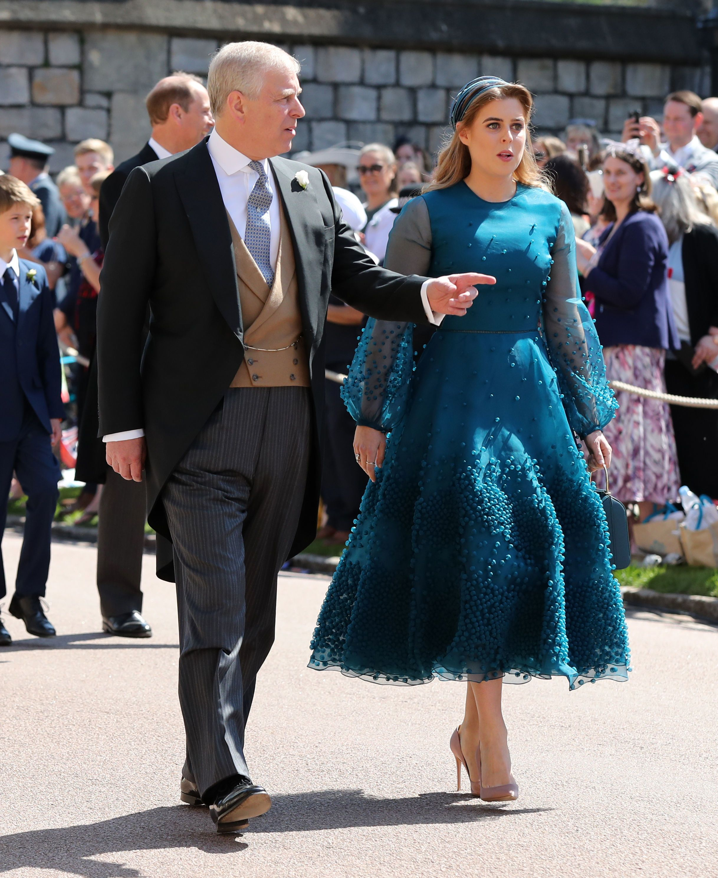 The Princess wears a bespoke Roksanda Viola dress with hand dyed teal silk organza and a Stephen Jones hat with Gianvito Rossi heels. More : Princess Beatrice's Most Fashionable Moments