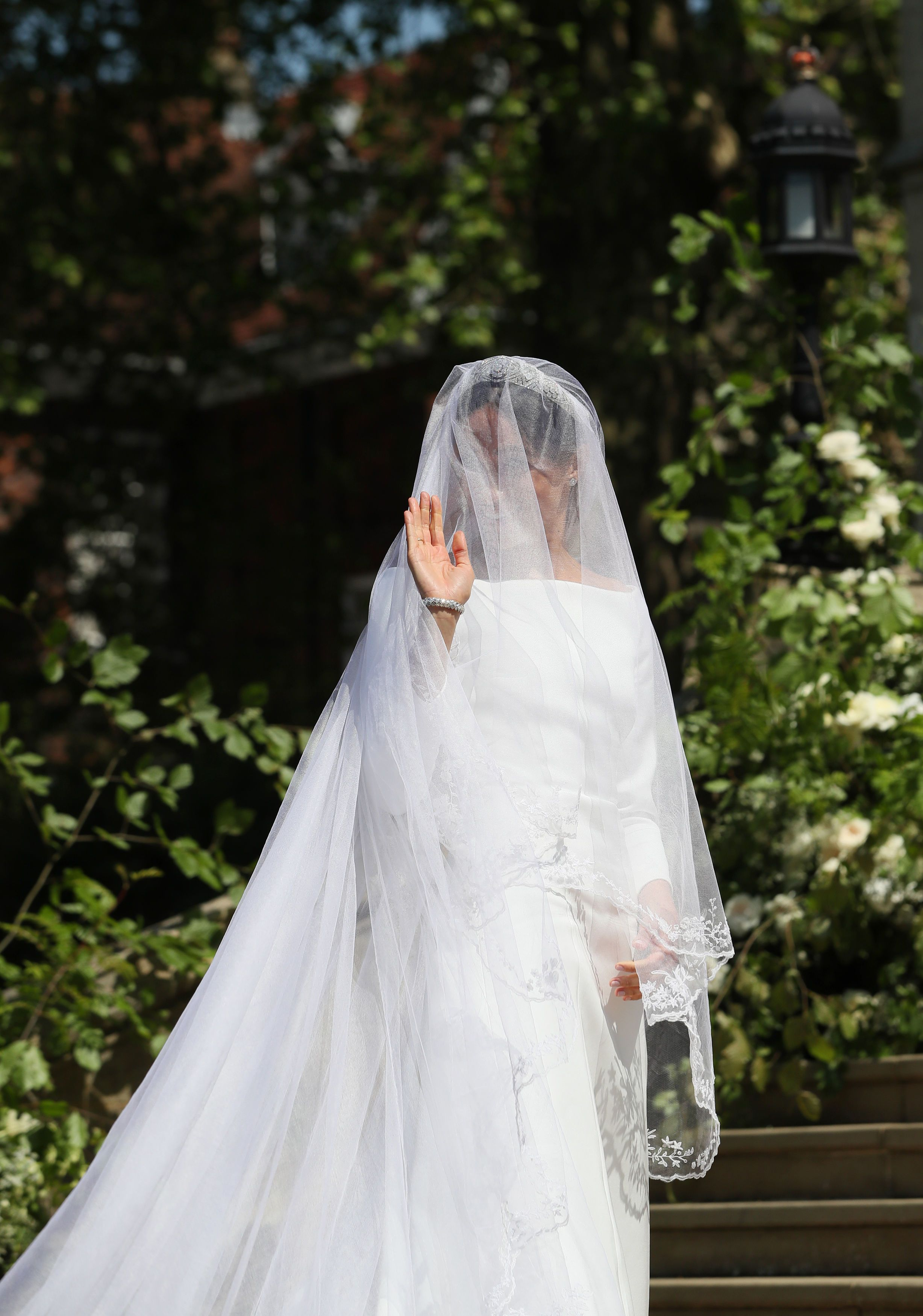 the first full look of meghan markle s givenchy royal wedding dress is here flipboard flipboard