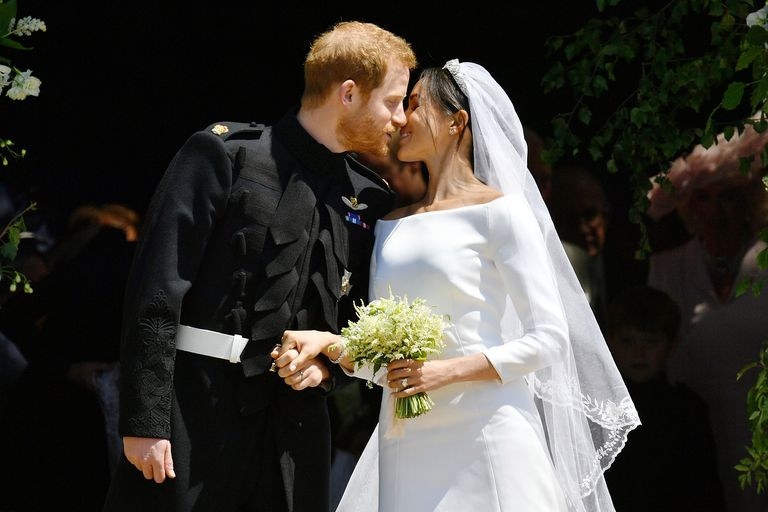Image result for harry and meghan latest wedding kiss