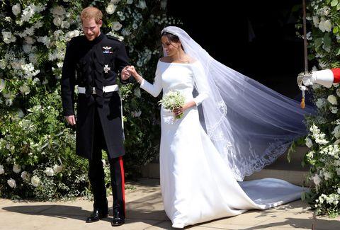 meghan markle second wedding dress photos meghan markle stella mccartney reception wedding gown details meghan markle second wedding dress