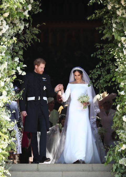 Meghan Markle and Princess Diana Royal Wedding Dresses Compared