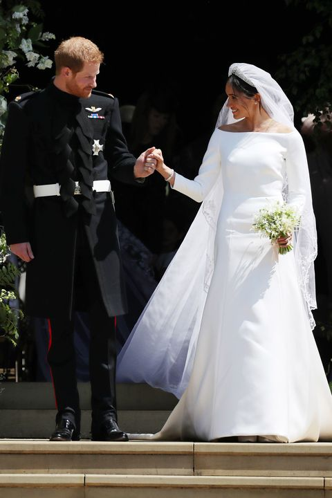 The Dress Was Created By British Designer Clare Waight Keller For Givenchy And Meghan Only Met In January