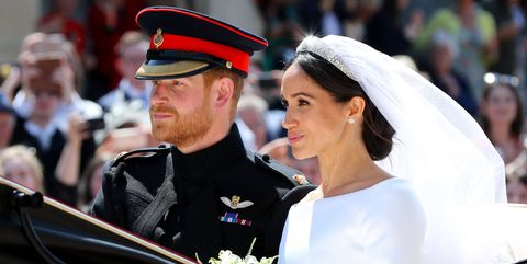 Meghan and Harry in the carriage