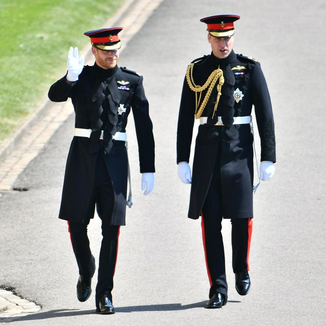 windsor, united kingdom   may 19 prince harry and prince william, duke of cambridge arrive at st georges chapel at windsor castle before the wedding of prince harry to meghan markle on may 19, 2018 in windsor, england photo by ben cawthra   wpa poolgetty images