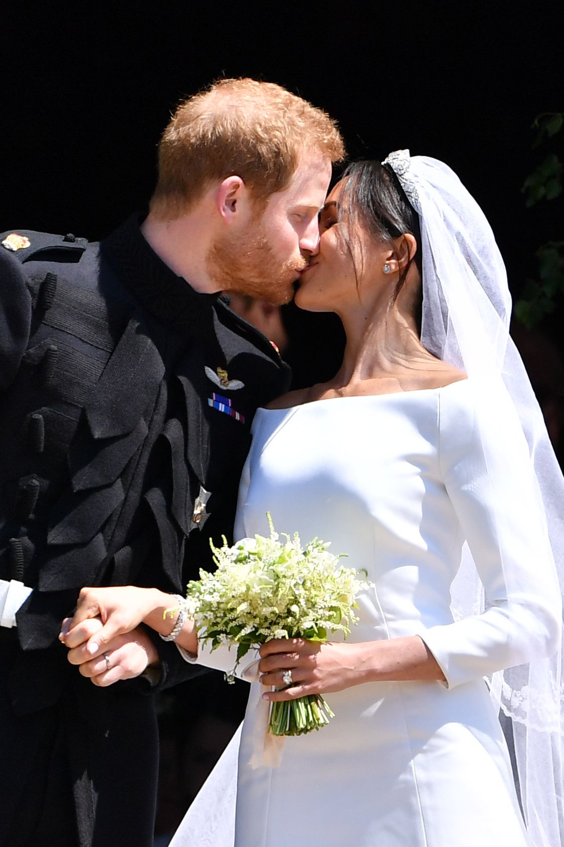 "Prince Harry has been a very hands-on groom—from helping design the engagement ring he gave to Meghan including two of his mother's own diamonds to hand-plucking flowers for his bride's bouquet . ""Prince Harry handpicked several flowers yesterday from their private garden at Kensington Palace to add to the bespoke bridal bouquet designed by florist Philippa Craddock,"" reads a statement from Kensington Palace."