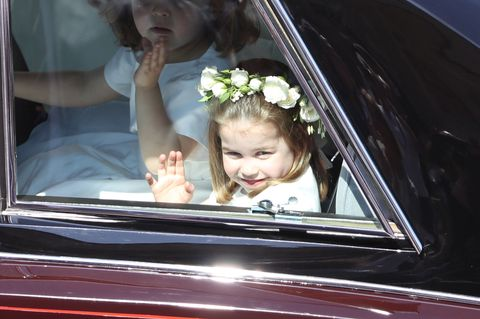 Princess Charlotte waving to the public at the Royal Wedding is the cutest thing ever