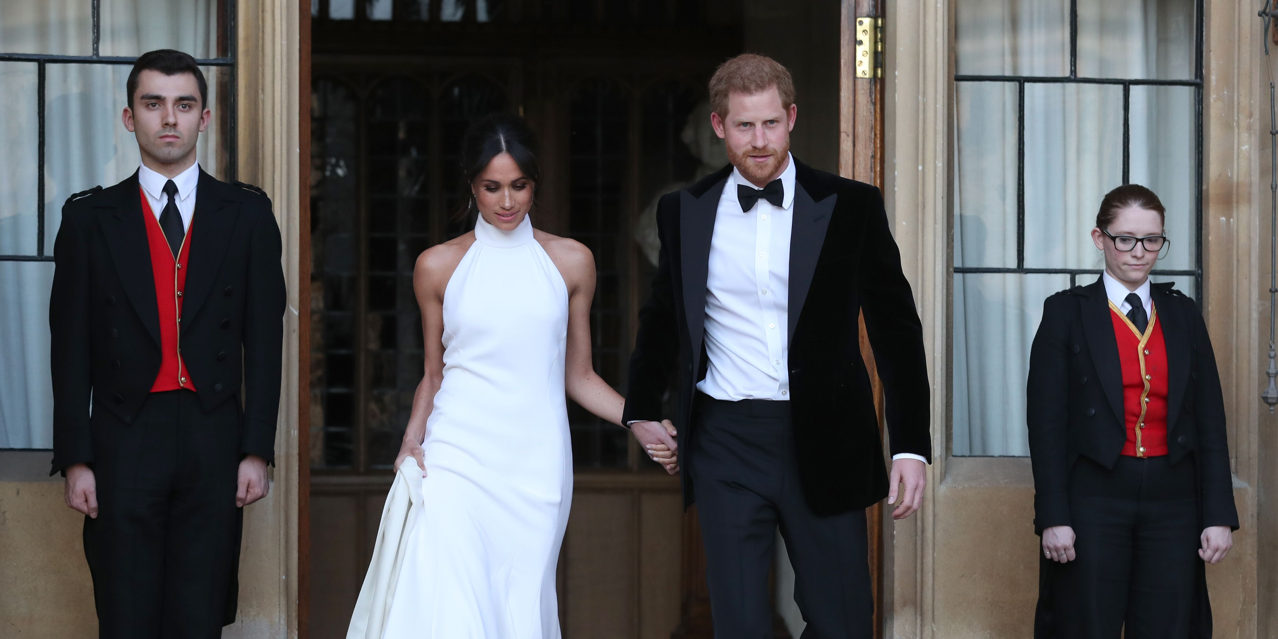 Meghan Markle and Prince Harry Arrive at Reception