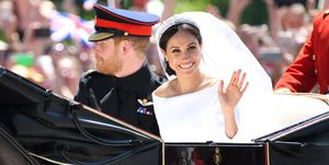 Prince Harry Meghan Markle Duke Duchess Sussex Royal Wedding wave