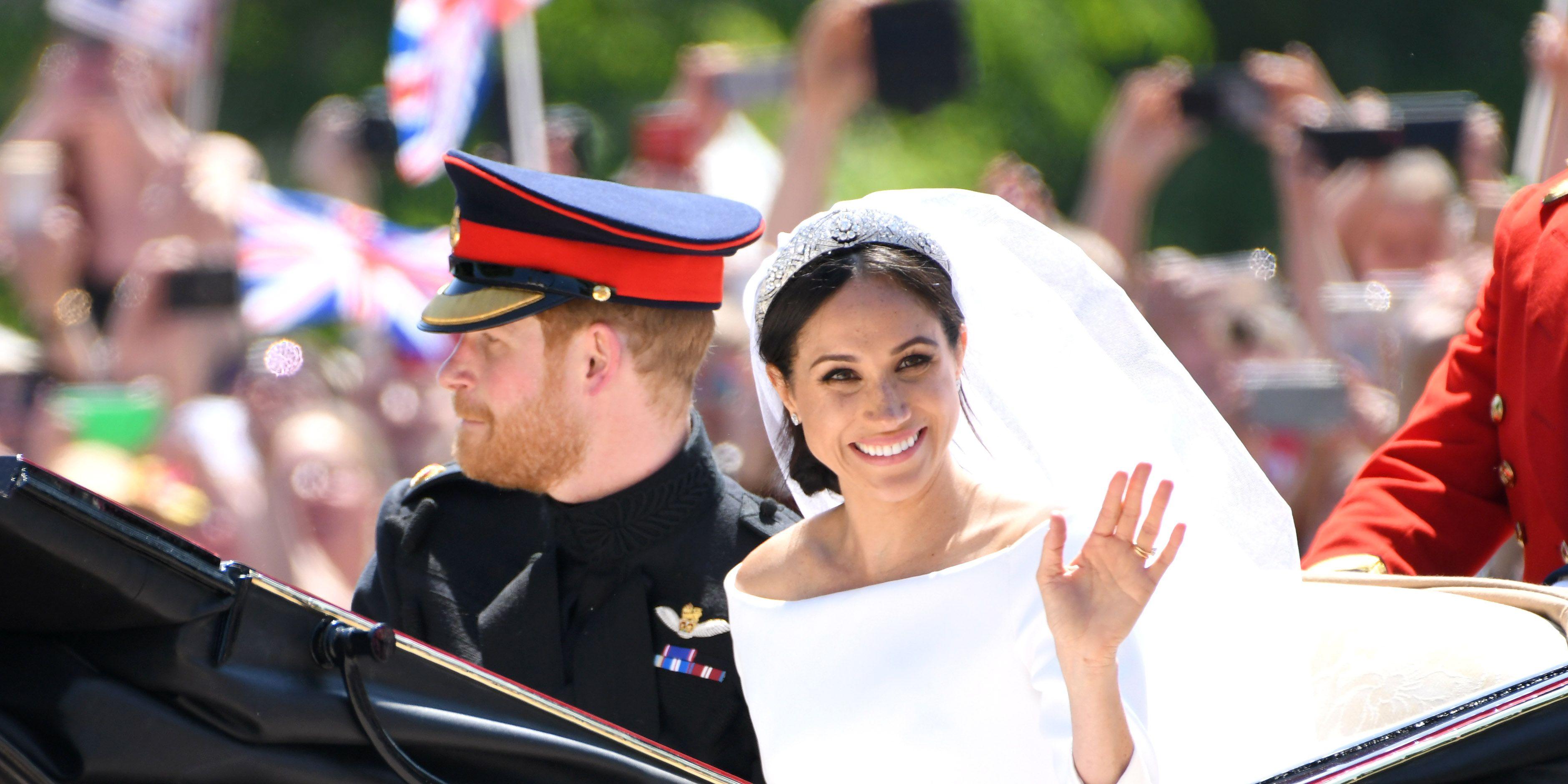 Prince Harry Meghan Markle Duke Duchess Sussex Royal Wedding wave