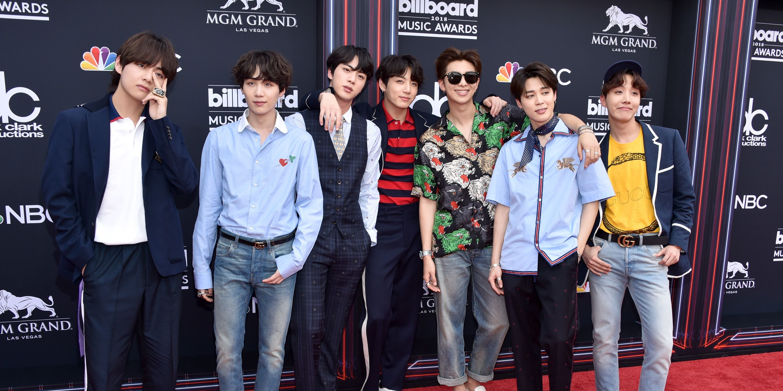 Bts Arrives At 2018 Billboard Music Awards V Jungkook Jimin