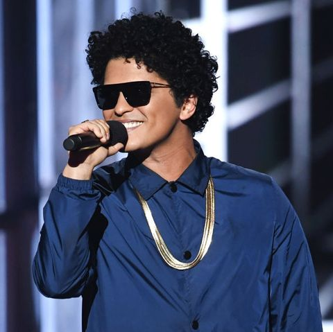 las vegas, nv   may 20  bruno mars speaks onstage during the 2018 billboard music awards at mgm grand garden arena on may 20, 2018 in las vegas, nevada  photo by kevin wintergetty images