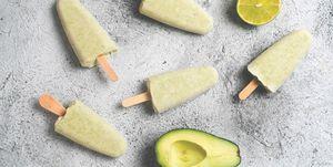 avocado lime popsicle, copy space