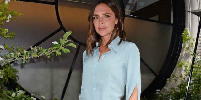 london, england   may 21  victoria beckham unveils the scotts mayfair 2018 summer terrace which she designed in collaboration with florist flora starkey at scotts mayfair on may 21, 2018 in london, england  photo by david m benettdave benettgetty images for victoria beckham  scotts mayfair