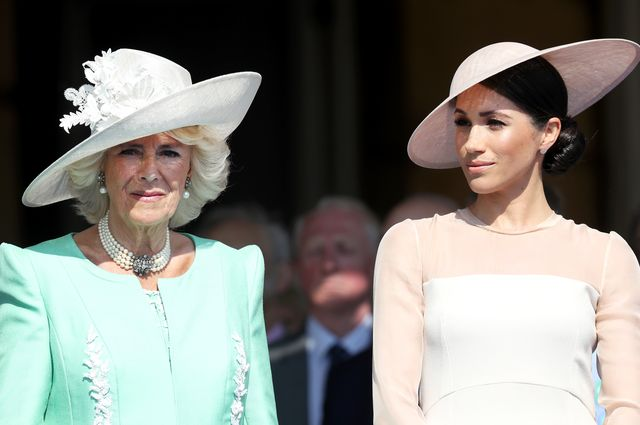 london, england   may 22  l r camilla, duchess of cornwall and meghan, duchess of sussex attend the prince of wales 70th birthday patronage celebration held at buckingham palace on may 22, 2018 in london, england  photo by chris jacksonchris jacksongetty images