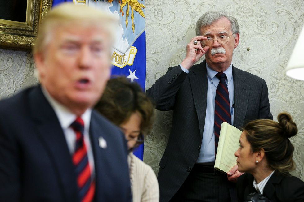 "John Bolton is one of the ""moral"" ""adults"" in the room?"