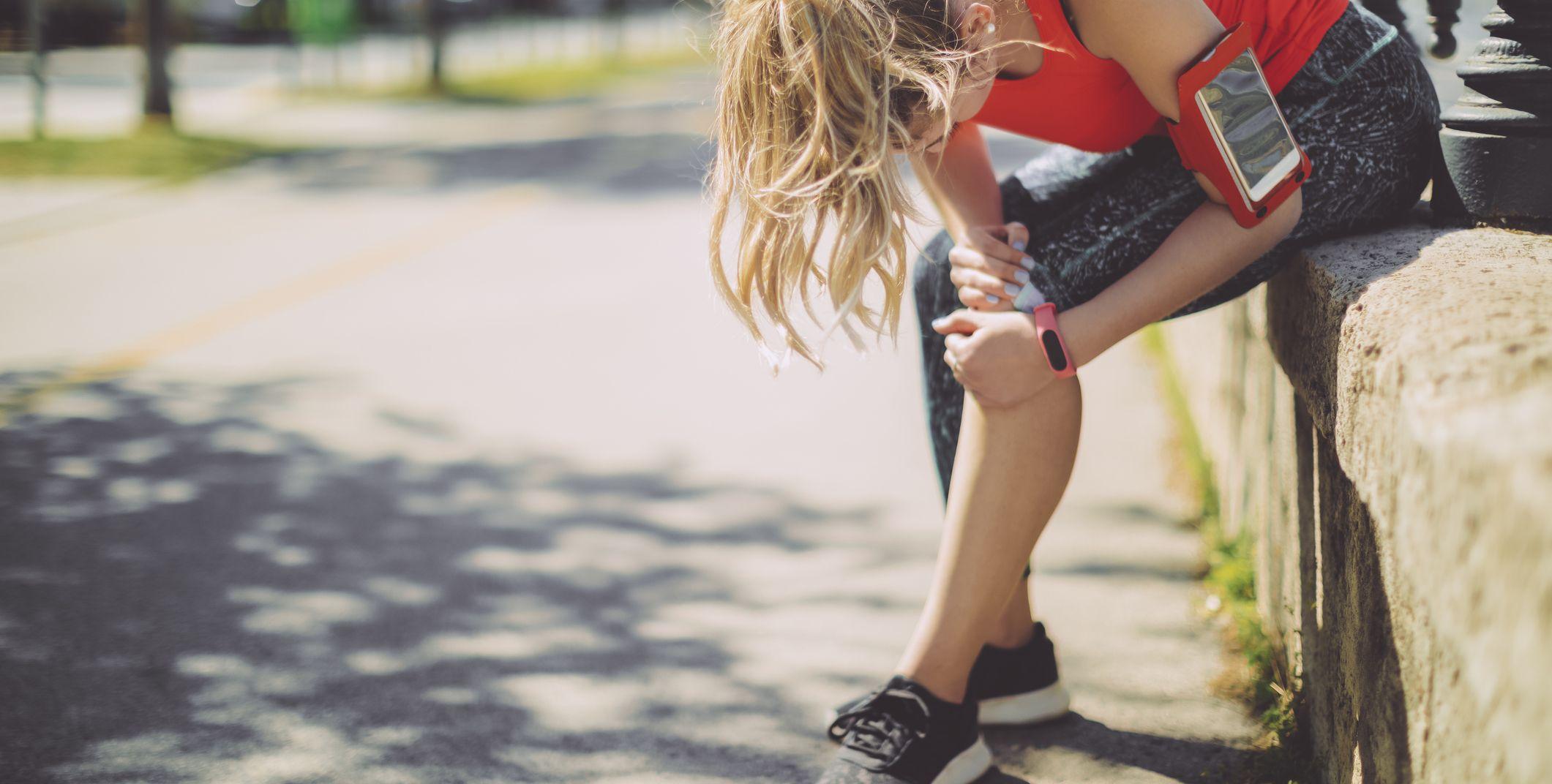 girl runner injured