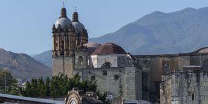 View of the Church of Santo Domingo de Guzman in the city of Oaxaca