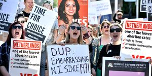 Abortion protests in Northern Ireland
