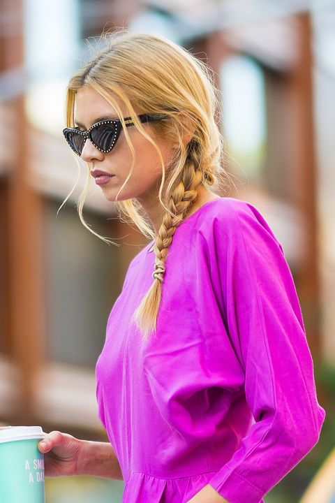Clothing, Street fashion, Pink, Eyewear, Purple, Sunglasses, Fashion, Yellow, Magenta, Outerwear,