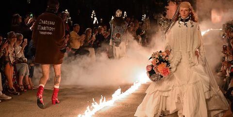 Fashion, Tradition, Dress, Event, Performance art, Night, Ceremony, Crowd,