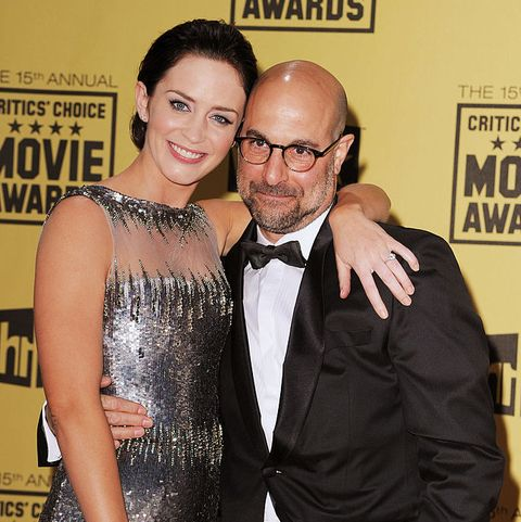 hollywood   january 15  actors emily blunt and stanley tucci arrives at the 15th annual critics choice movie awards held at hollywood palladium on january 15, 2010 in hollywood, california  photo by steve granitzwireimage
