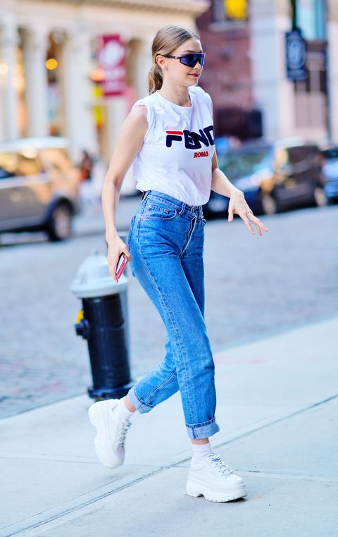 Gigi Hadid 球鞋,穿搭筆記,吉吉哈蒂德,女星穿搭,球鞋,運動鞋,女星私服,Gigi Hadid