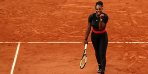 Serena Williams black nike catsuit