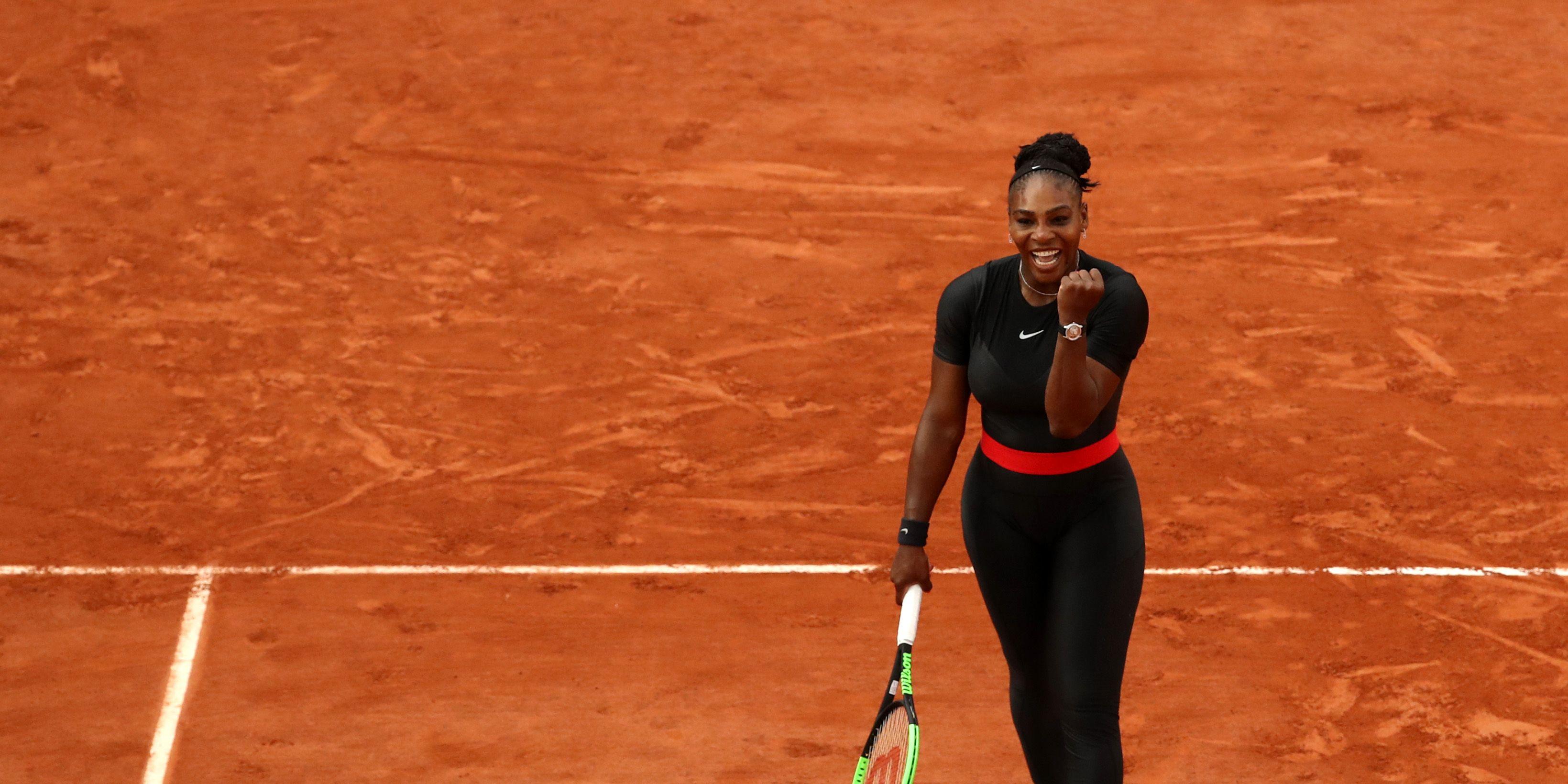 Serena Williams black nike catsuit