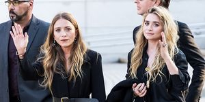 Fashion designers Mary-Kate Olsen and Ashley Olsen are seen arriving to the 2018 CFDA Fashion Awards