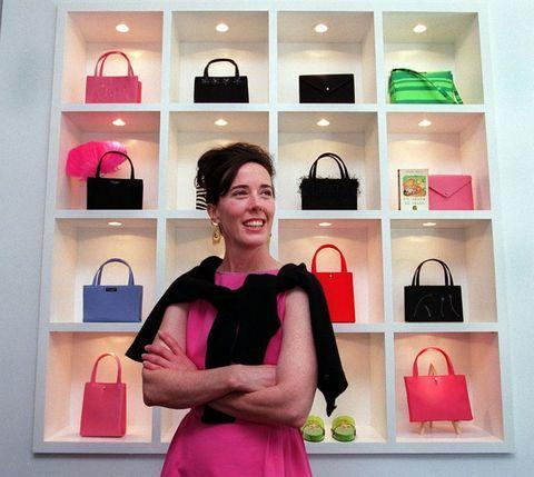 Pink, Shoulder, Fashion, Shelf, Magenta, Room, Footwear, Interior design, Neck, Furniture,