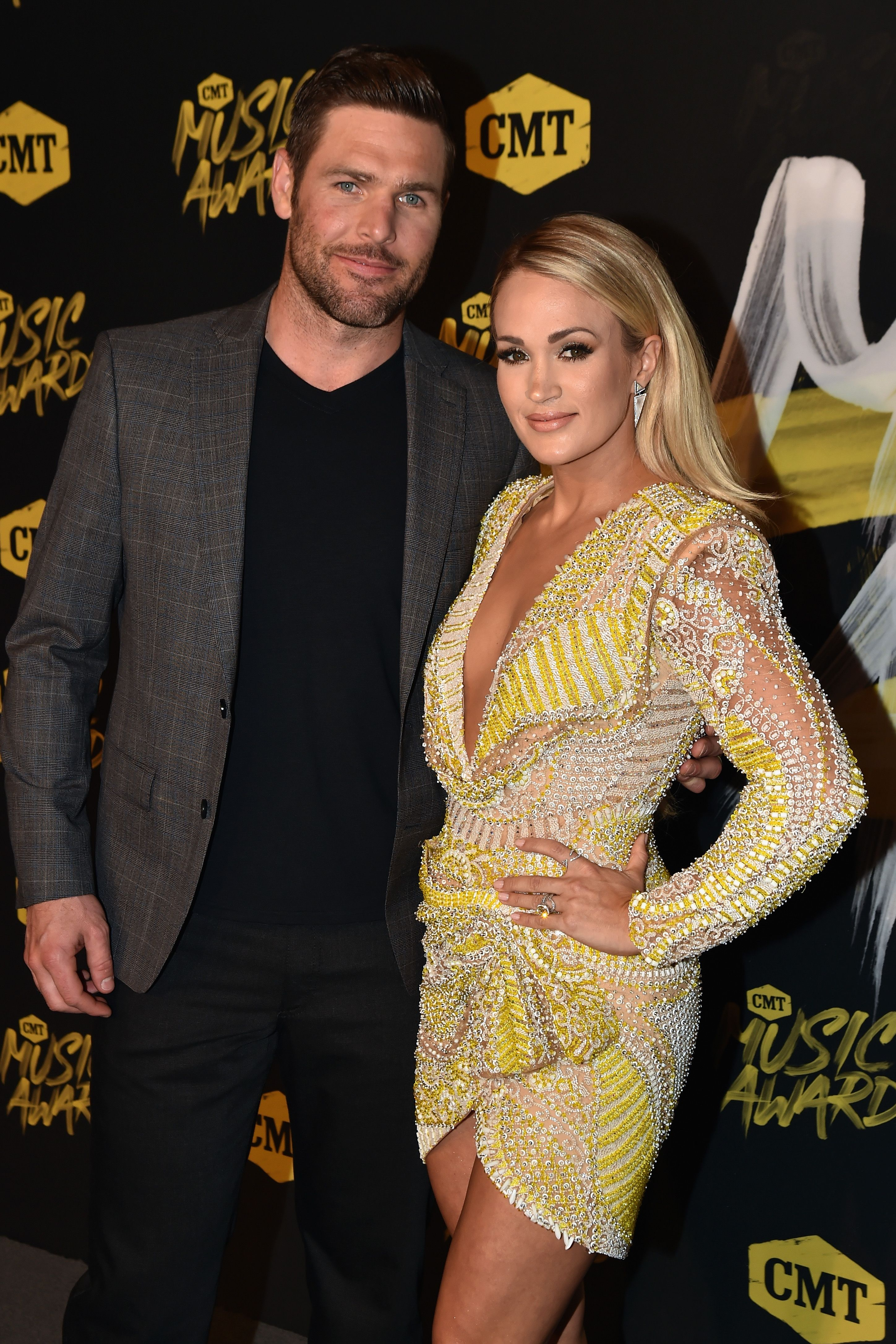 Carrie Underwood and Mike Fisher were set up on a blind date.