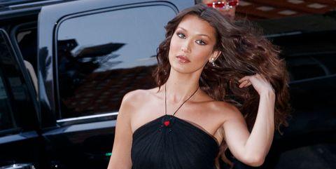 Bella Hadid Dior Black Sheer Dress