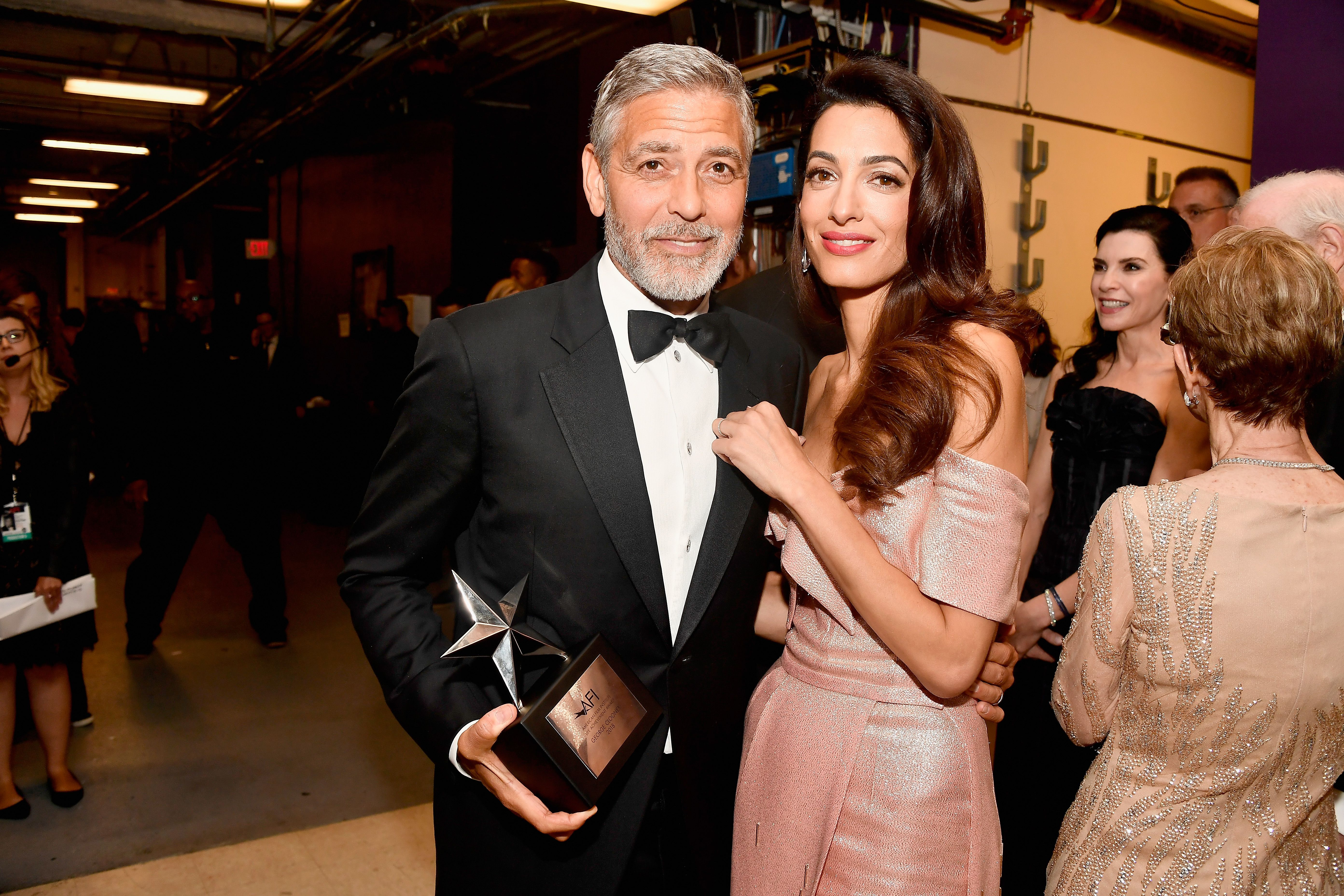 George Clooney Teared Up At Amals Speech Honoring Him