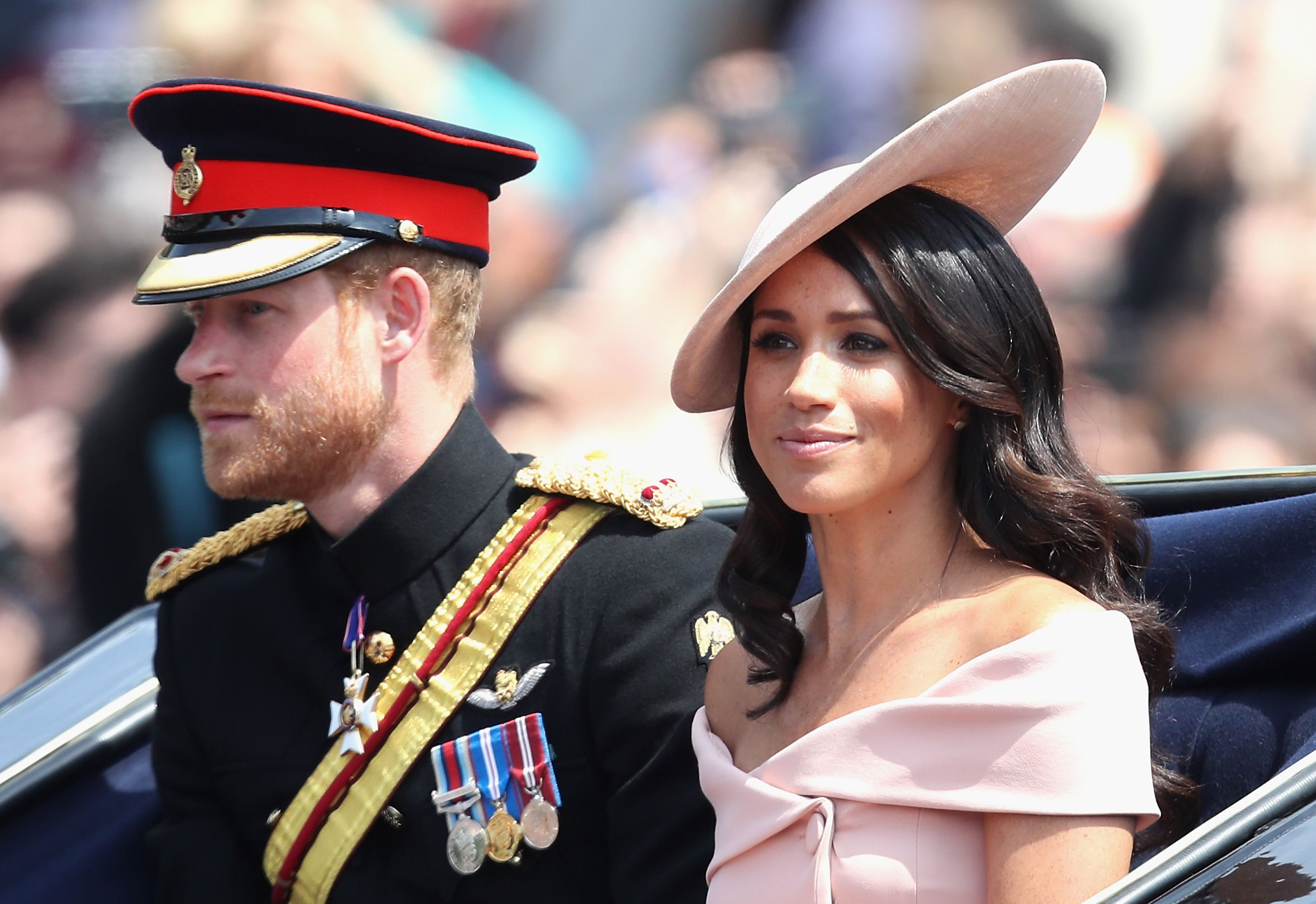 Meghan Markle Wore an Off the Shoulder Dress at Trooping the Colour