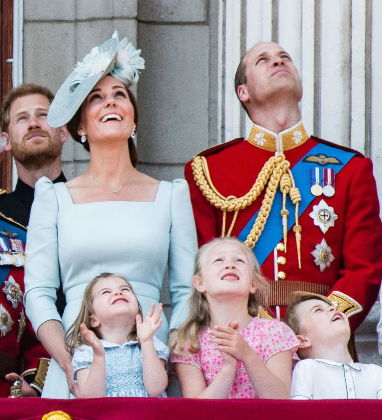 Kate Middleton, Prince William, and Princess Charlotte at Trooping the Colour 2018